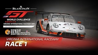 Race 1 - VIRGINIA - Blancpain GT World Challenge USA - LIVE