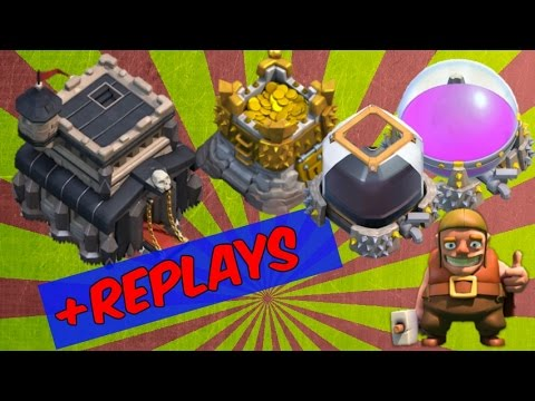 BEST TH9 FARMING BASE 2016 Anti Giant & Anti Loot With Replays