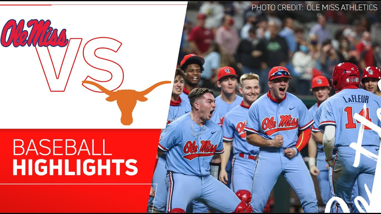 Download Ole Miss vs Texas Baseball Highlights   2021 State Farm College Baseball Showdown