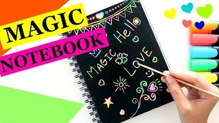 DIY Crafts:  School Supplies Scratch-Off Magic Rainbow Notebook