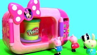 Forno Microondas Infantil Da Minnie Mouse Magical Oven Toy Play-Doh Surprise for Girls Portugues BR