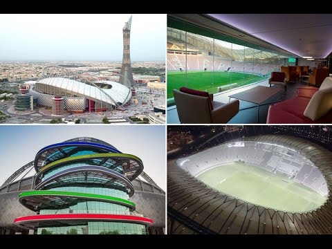 World Cup venue - the air-conditioned Khalifa International Stadium in Doha