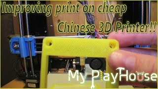 Improving 3D print on the cheap Chinese 3D Printer - 238(The Chinese 3D printer Reprap Prusa i3 a602 Has stood still since I made the last video with it. But last time i did not have much luck. This time i got a bit further, ..., 2015-09-11T12:00:00.000Z)