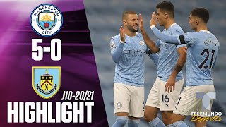 Highlights & Goals | Man City vs. Burnley 5-0 | Telemundo Deportes