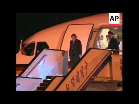 German Chancellor arrives in Beijing