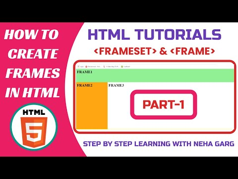 HTML Tutorials || How To Create Frames In HTML || HTML Frameset And Frame Tag ||HTML Frames ||Part-1