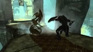 Skyrim - Falmer Warmonger VS. Dwarven Sphere Master