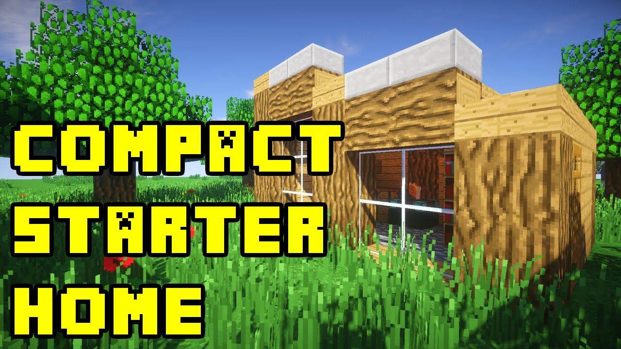 Minecraft simple compact survival house build tutorial for Simple houses to build
