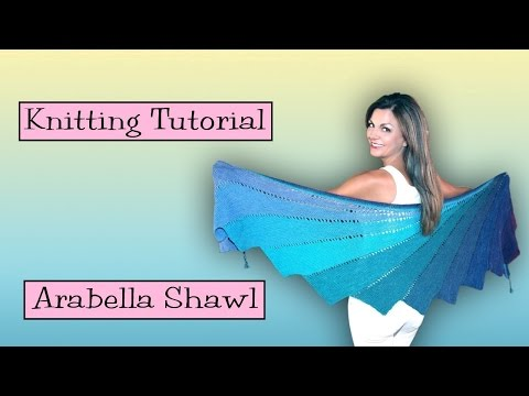 Knitting Tutorial - SKEINO Arabella Shawl