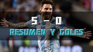 Argentina vs. Panamá 5-0 - Copa America Centenario 2016 | Resumen y Goles HD 10/06/16
