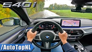 2021 BMW 5 Series LCI 540i xDrive POV Test Drive by AutoTopNL