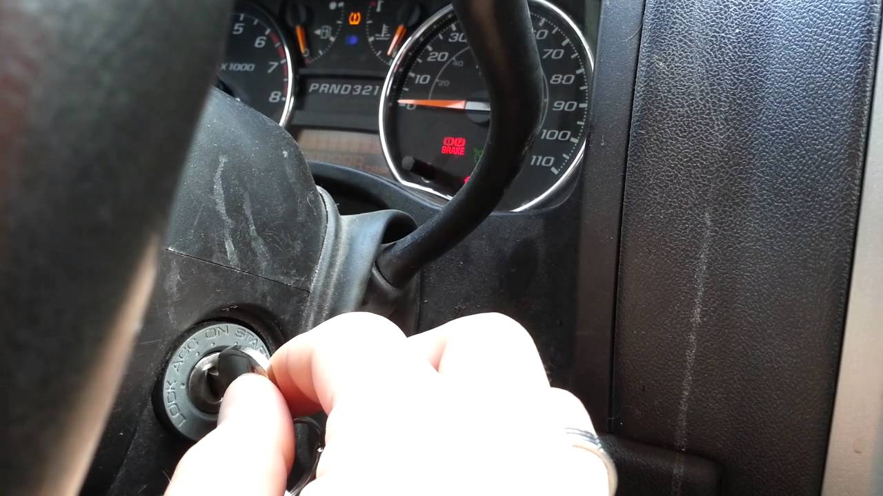 Broken Key Cylinder 2009 Chevy Colorado