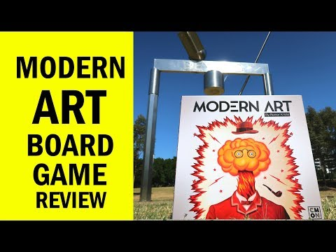 Modern Art Board Game Review & Runthrough - SOLD!