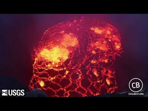 Video Inside Halemaumau Lava Lake Dropped 240 Yards