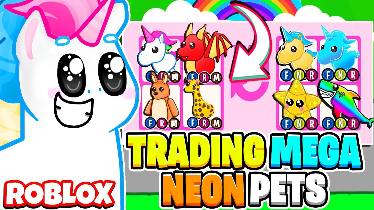 What Do People Trade For Mega Neon Legendary Pets In Adopt Me Roblox Adopt Me Update Youtube
