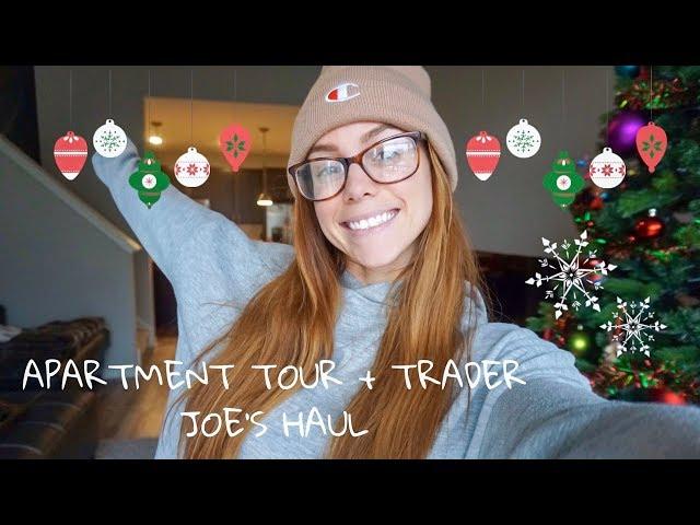 CHRISTMAS DECOR APARTMENT TOUR & TRADER JOE'S HAUL | LAUREN FINDLEY