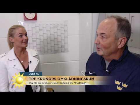 EXKLUSIVT: Följ med in i Tre kronors lyxiga omklädningsrum - Nyhetsmorgon (TV4)