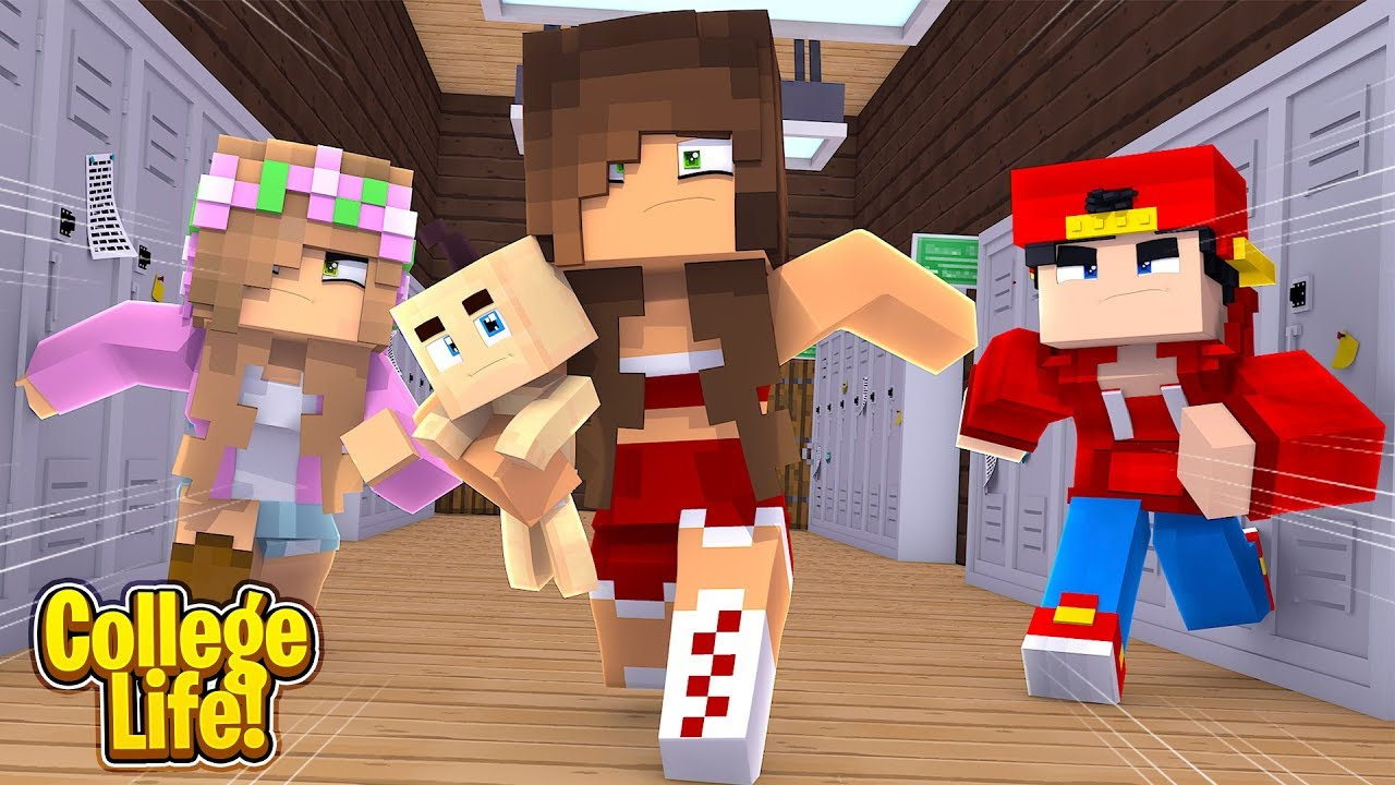 the-cheerleaders-take-the-baby-college-life-minecraft-little-kelly