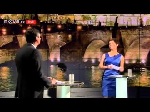 Prezidentský duel Fischer - Zeman na TV Nova