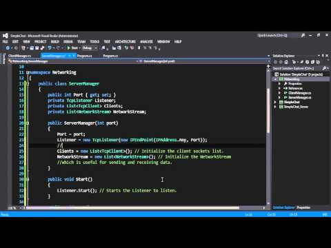 How To Create A Simple Chat Application On C#(Async, Multi-Clients, Sockets, Packets) - P1.2