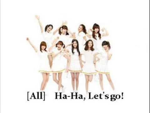 Ha Ha Ha Song - SNSD Lyrics (Rom/Eng)