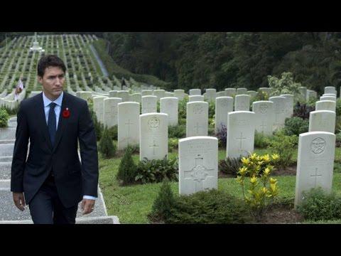 Justin Trudeau visits Canadian graves at Hong Kong war cemetery