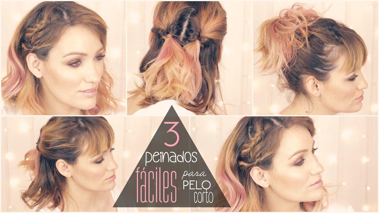 3 peinados muy f ciles para pelo corto - Peinados fiesta faciles ...