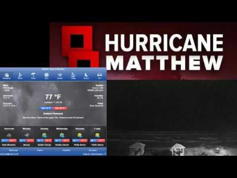 Live:Hurricane Matthew Is MONSTER/at Atlantic beach