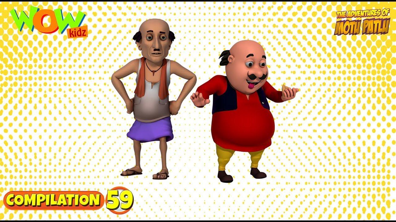 Motu Patlu Non Stop 3 Episodes 3d Animation For Kids 59 As