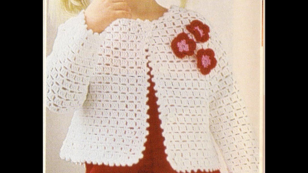 Chaqueta de crochet para niпїЅa