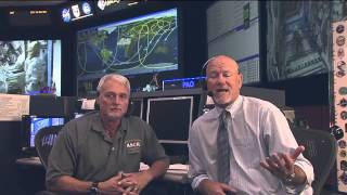Students visiting Seattle's Museum of Flight chat with International Space Station Controller