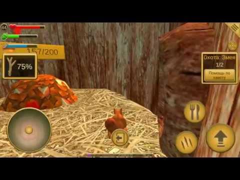 Первое видео про игру симулятор белки
