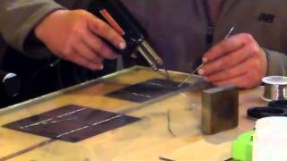How to make solar panels - Tab solar cells Parts 1 and 2