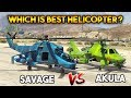 Download GTA 5 ONLINE : AKULA VS SAVAGE ( WHICH IS BEST HELICOPTER? )