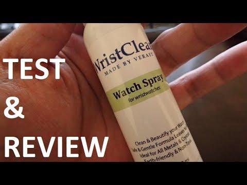 Wrist Clean - Watch Spray Test & Review (Wrist Watch Cleaning Kit)