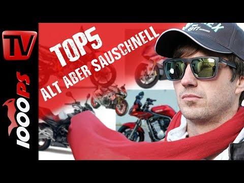 Top 5 - Gebrauchtmotorräder die auch neue Bikes versägen