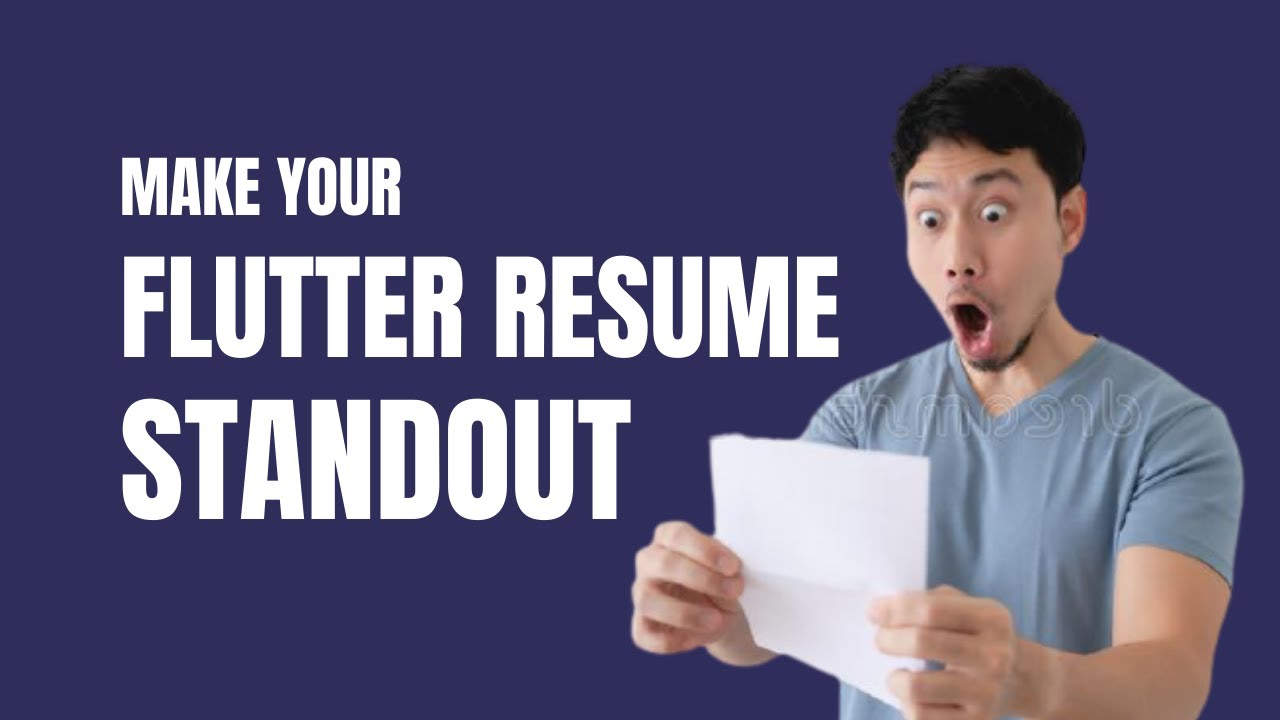 3 Things to Make Your Flutter Resume Stand Out
