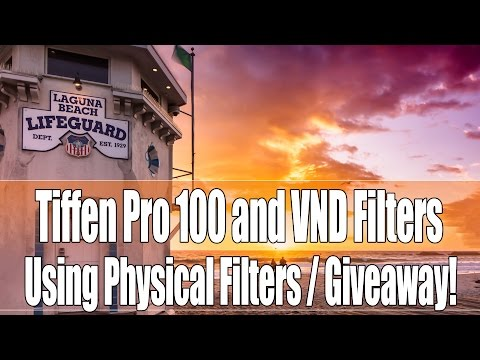 Get it right in camera with filters, Tiffen Pro 100 Filters, VND's and Giveaway!