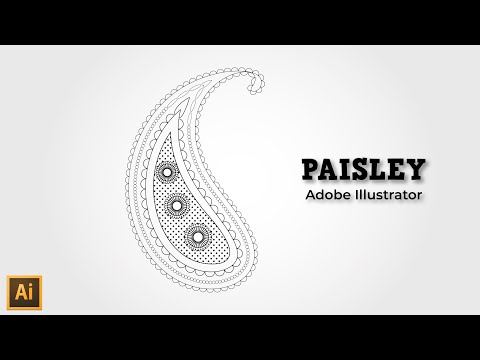 Paisley design in Illustrator - Illustrator tutorial | paisley pattern illustrator