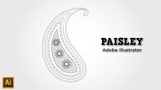 Paisley design in Illustrator - Illustrator tutorial | paisley pattern illustrator
