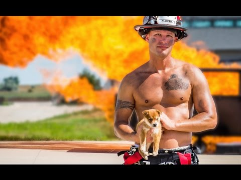 The 2017 Firefighter Calendar Puppy Rescue Party Youtube