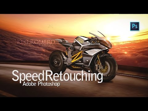 Speed Retouching Adobe Photoshop :: MOTORBIKE | Kiki Romero © Studio Pictorium