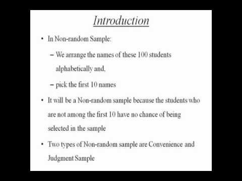 Random and Non-random Samples: Statistics Homework Help by ...