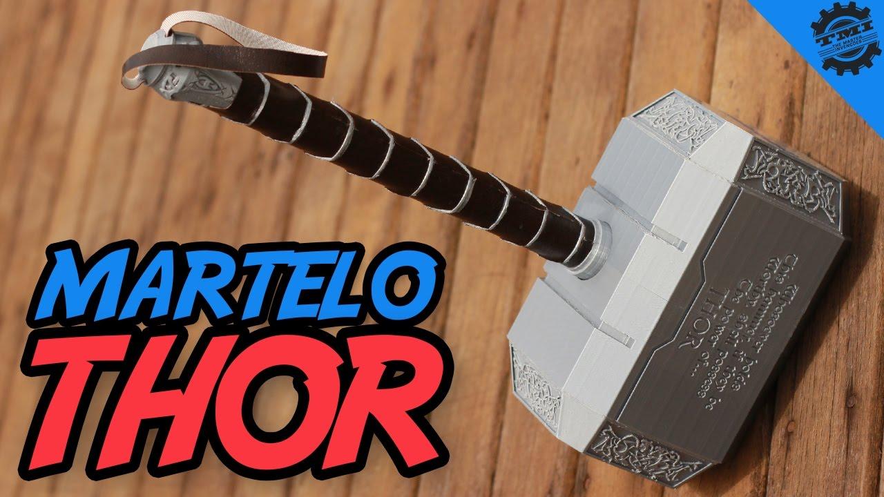 Como Fazer O Martelo Do Thor Mjolnir Youtube