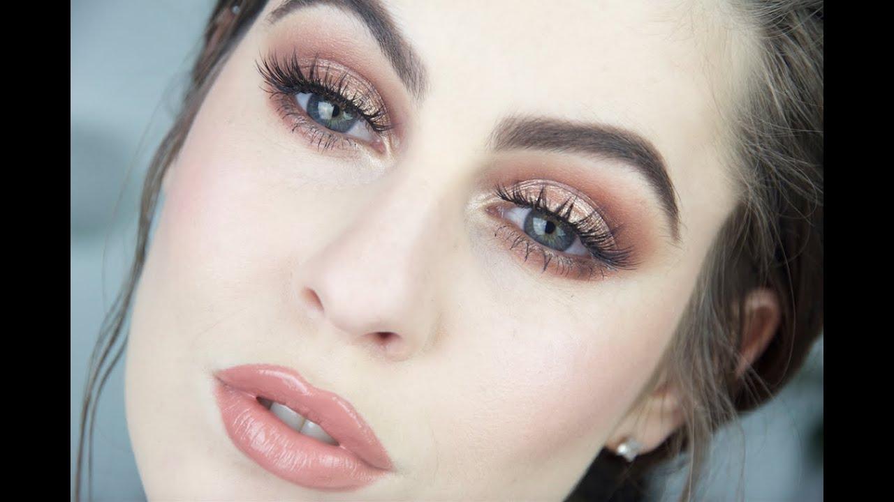 Bronzed Eye Lip Makeup Tutorial Fair Skin You