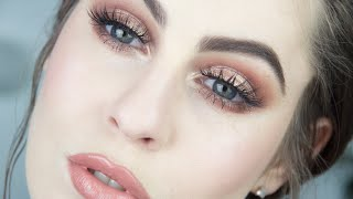Bronzed Eye & Nude Lip Makeup Tutorial | Fair Skin
