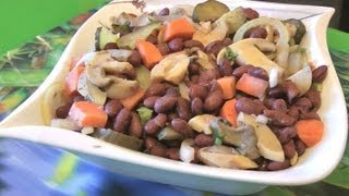 видео Фасолевый салат с лососем и картофелем