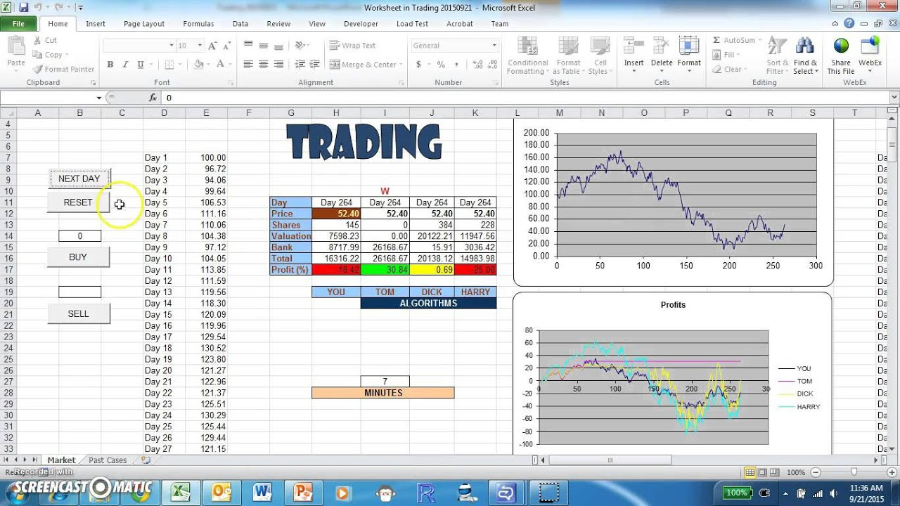 Trading - A Stock Market Simulation Game - YouTube