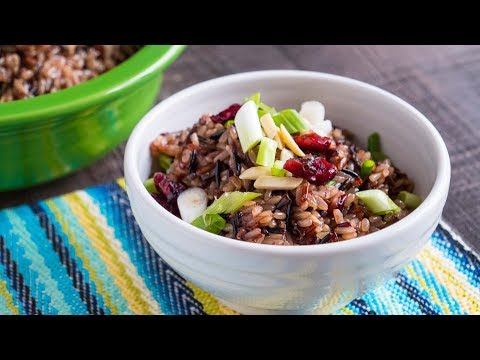 Pressure Cooker Brown and Wild Rice Pilaf (With Cranberries and Almonds)