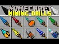 Minecraft MINING DRILLS MOD l INSTANTLY MINE BEDROCK, OBSIDIAN, DIAMONDS & MORE! l Modded Mini-Game